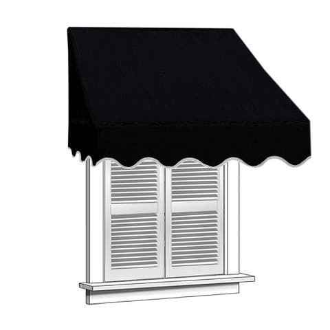ALEKO 4 feet X 2 feet Window Awning Door Canopy Sun Rain Shade Shelter