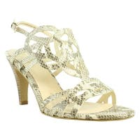 Isola Womens Delano Beige Ankle Strap Sandals Size 9.5