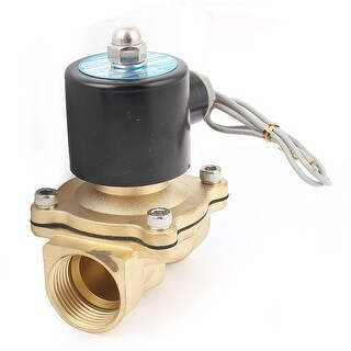 DC 24V 30mm Thread Dia 2 Way Direction Air Gas Pneumatic Electric Solenoid Valve