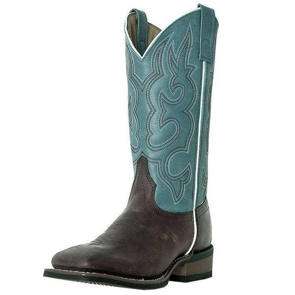 Laredo Western Boots Womens Mesquite Stockman Gaucho Light Blue