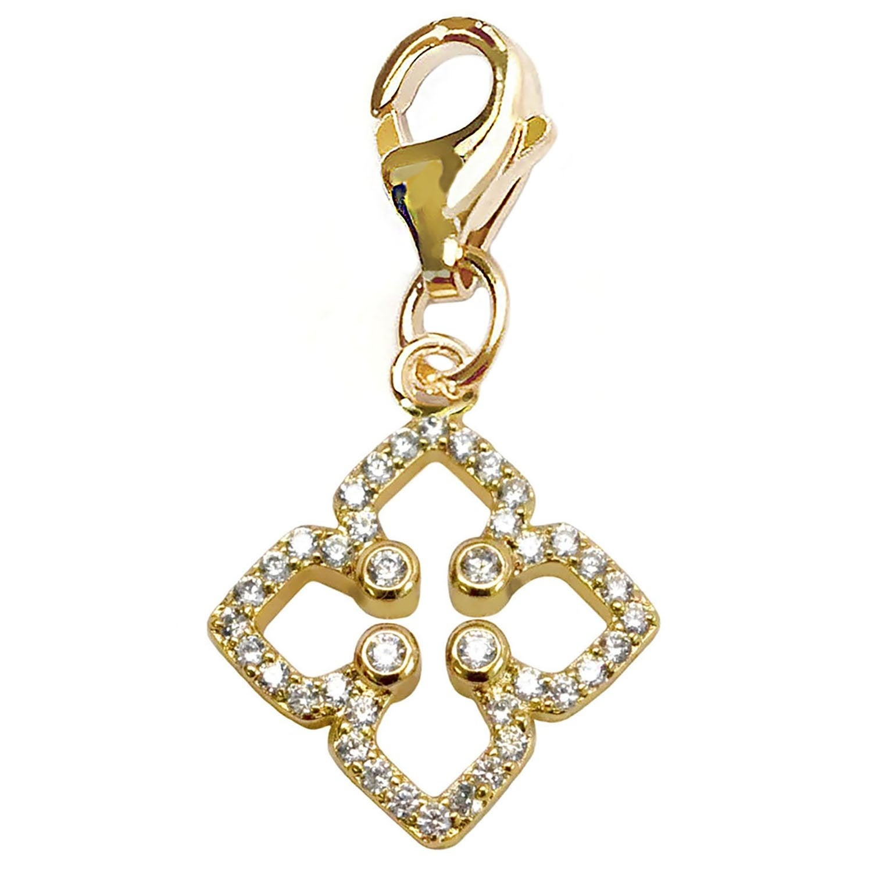 Julieta Jewelry Clover CZ Clip-On Charm - Thumbnail 0