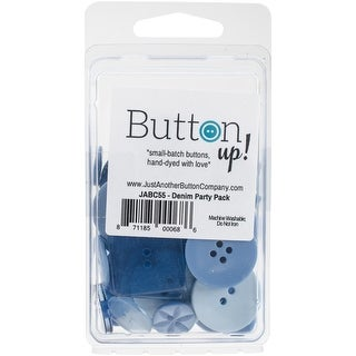 Button Up! Party Pack Buttons-Denim