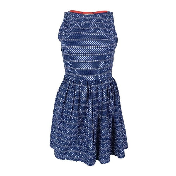 88ebd0bc71 Shop Tommy Girl Junior s Polka Dot Print Dress - Bijou Blue Macy - XS -  Free Shipping Today - - 15017020