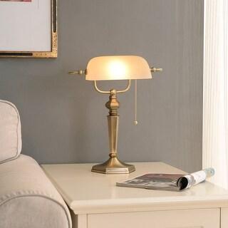 Link to Doherty Banker-style Golden Bronze Desk Lamp Similar Items in Desk Lamps