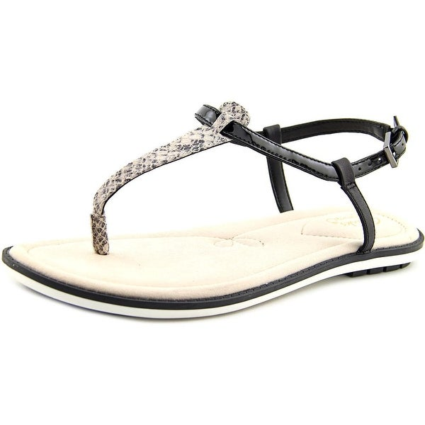84e7df8c284 Shop Clarks Narrative Seattle Spice Women Black Snake Sandals - Free ...