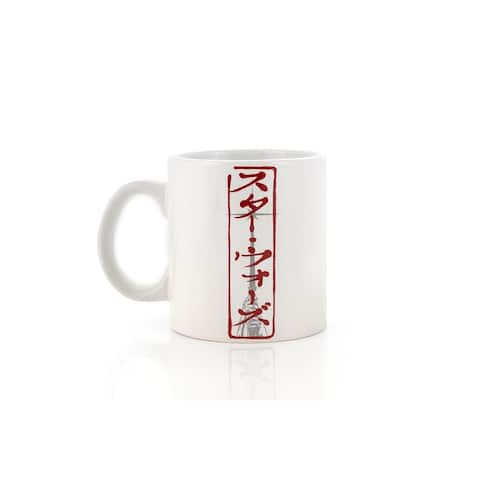 Star Wars Kanji Lightsaber Ceramic Coffee Mug - White
