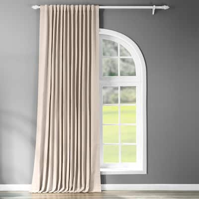 Exclusive Fabrics Extra Wide 120- Inch Thermal Room Darkening Curtain (1 Panel) - 100 x 120