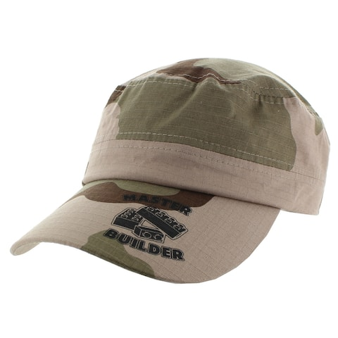 Master Builder Green Camo Military Cap