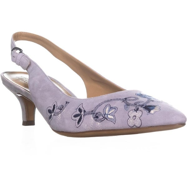 naturalizer Peyton 2 Embroidered Point Toe Heels, Pale Lapis - 10 w us