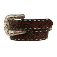 Nocona Western Belt Womens Embroidered Concho Cross Brown
