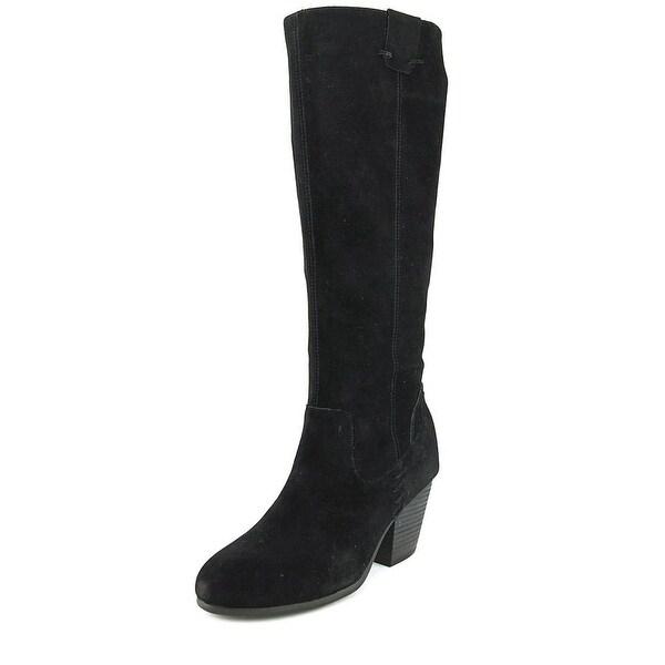 Aerosoles Festivities Women Round Toe Suede Black Knee High Boot