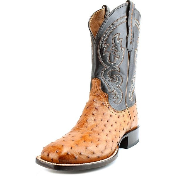 Lucchese Burn F.Q. Ost/Ch Ranch Round Toe Leather Western Boot
