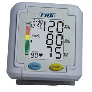 BP Monitor Wrist Cuff With 3 Color Backlight And 90 Memory With 1