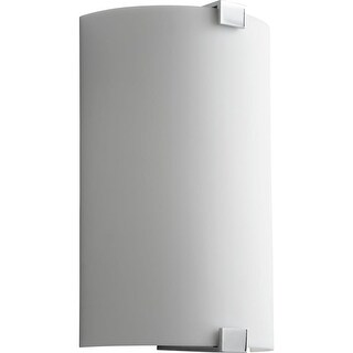 """Oxygen Lighting 37-563 Siren 13"""" Tall 1 Light ADA Commercial 277V LED Wall Sconce with Acrylic Half Cylinder Shade"""