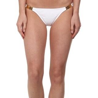 Vix Paula Hermanny NEW White Women's XS Bikini Bottom Swimwear