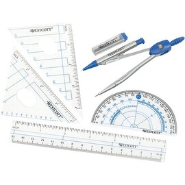 Westcott 6Pc Geometry Kit