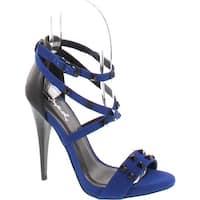 Qupid Women's Greyson 37 Dress Sandal - Cobalt