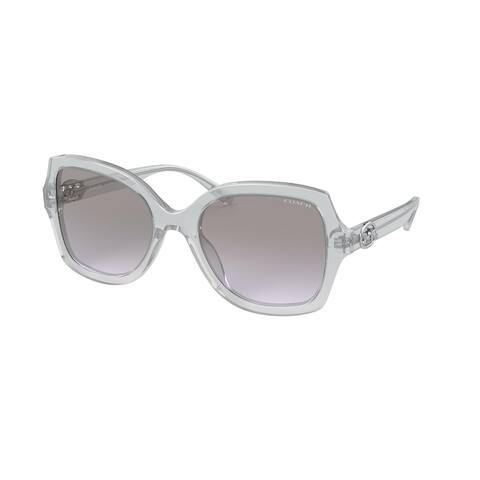 Coach HC8295 56144Q 56 Transparent Grey Woman Square Sunglasses
