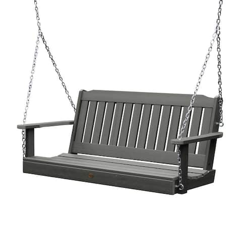 Highwood Lehigh 5-foot Eco-friendly Synthetic Wood Porch Swing