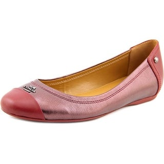 Coach Chelsea Flat Round Toe Leather Ballet Flats