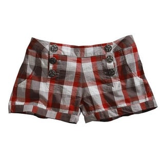 Tin Haul Western Shorts Womens Buckeye Plaid Red 10-055-0597-0507 RE