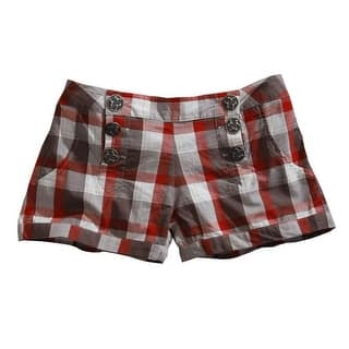 Tin Haul Western Shorts Womens Buckeye Plaid Red 10-055-0597-0507 RE|https://ak1.ostkcdn.com/images/products/is/images/direct/aa7c055bd31d8b1aa37ad0ad80c3ebb089177bbc/Tin-Haul-Western-Shorts-Womens-Buckeye-Plaid-Red-10-055-0597-0507-RE.jpg?impolicy=medium