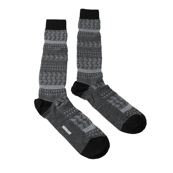 Missoni GM00CMU4198 0005 Gray/Black Knee Length Socks - Grey