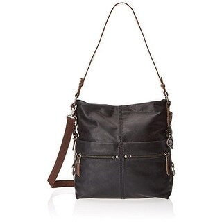 The Sak Womens Sanibel Bucket Handbag Leather Convertible