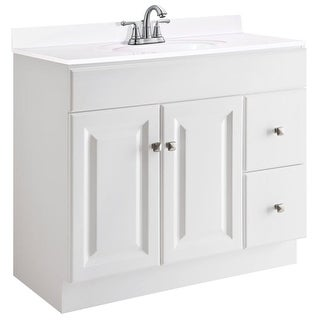 "Design House 545095 36"" Freestanding Single Vanity Cabinet Only - White"