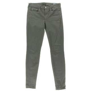Vince Womens Mid Rise Pewter Wash Colored Skinny Jeans - 26