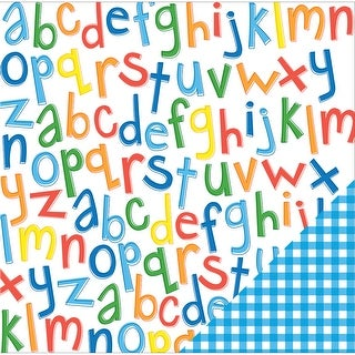 "American Crafts School Double-Sided Cardstock 12""X12""-Primary Alphabet"
