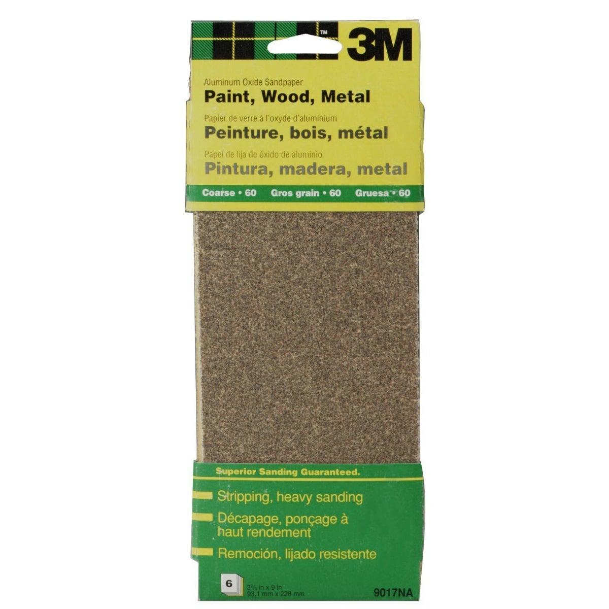 4 Pack 150 Grit Sanding Sheets x 9 in 4 Per Pack 3M 3-2//3 in
