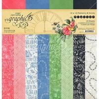 "Graphic 45 Double-Sided Paper Pad 12""X12"" 16/Pkg-Flutter, 8 Designs/2 Each"