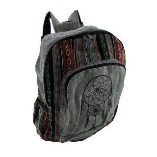 Dream Catcher Print Bohemian Cotton Canvas Tapestry Backpack