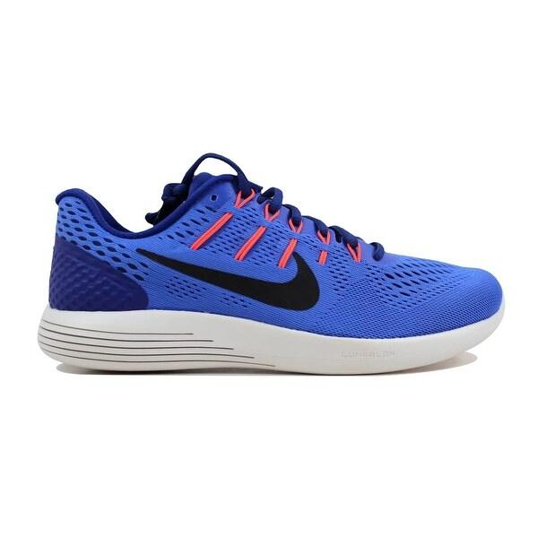 40f6b8e7e2c57c Shop Nike Men s Lunarglide 8 Medium Blue Black 843725-403 - Free ...