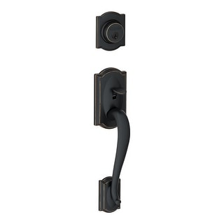 Schlage F58-CAM  Camelot Single Cylinder Exterior Entrance Handleset from the F-Series