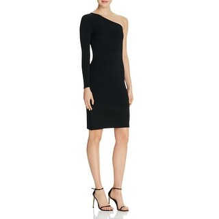 Elizabeth and James Womens Brittany Bodycon Dress Ribbed Trim One Shoulder