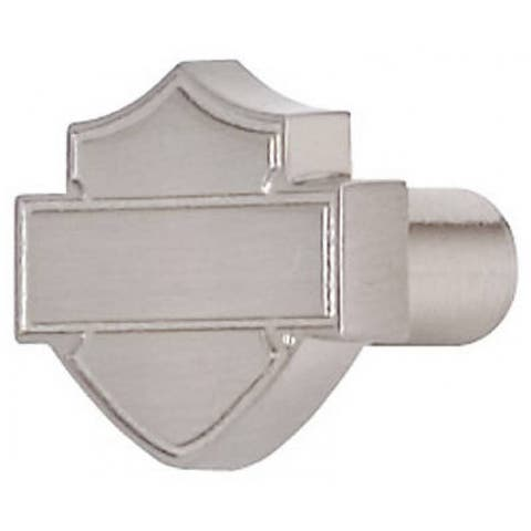 Harley Davidson Bar & Shield Design Silhouette Knob, Brushed Nickel