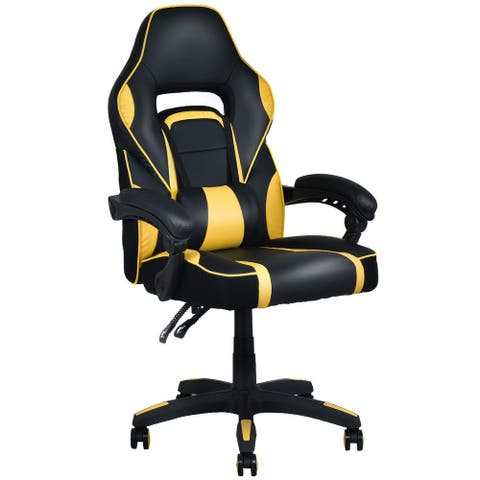 Costway Executive Racing Style PU Leather Gaming Chair High Back
