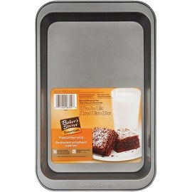 "Baker's Secret 1114441 Biscuit & Brownie Pan, Non Stick, 11"" x 7"" x 1-1/2"""