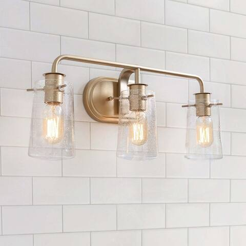 "Modern 3-lights Bathroom Vanity Lighting Golden Wall Sconce for Powder Room - L22.5""xW5.5""x H 9"" - L22.5""xW5.5""x H 9"""