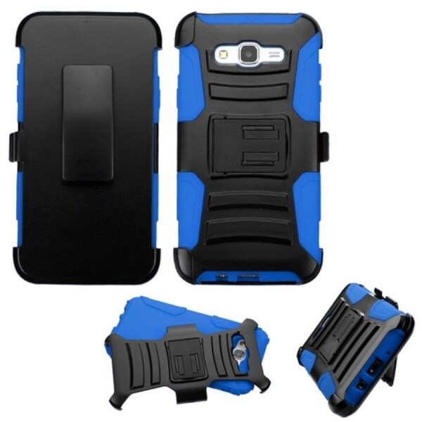 Insten Dual Layer PC/ Silicone Holster Case Cover For Samsung Galaxy J7 2015 Version
