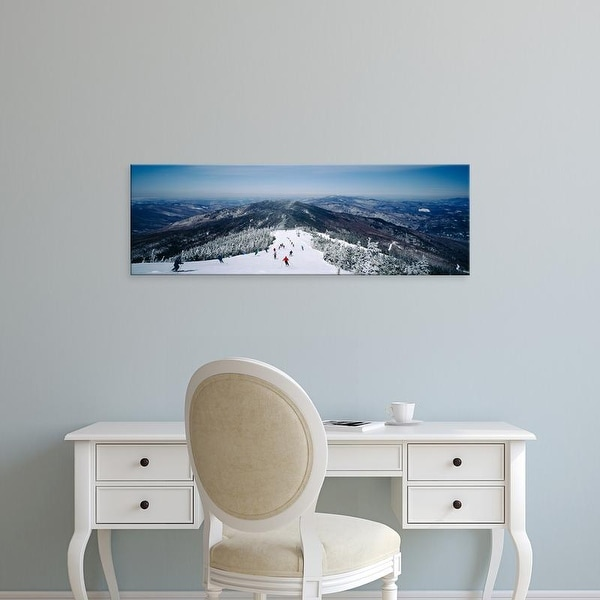 Easy Art Prints Panoramic Images's 'View of a group of people skiing downhill, Sugarbush Resort, Vermont' Canvas Art