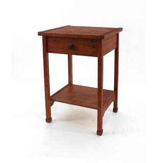 Rustic Wooden Accent Table with 1 Drawer