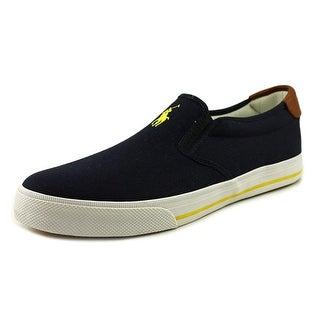 Polo Ralph Lauren Vaughn Slip-On Men Round Toe Canvas Blue Sneakers