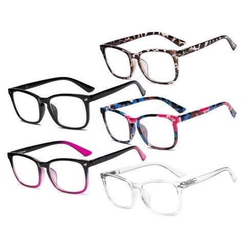 Eyekepper 5 Pack Stylish Reading Glasses for Women RT1801