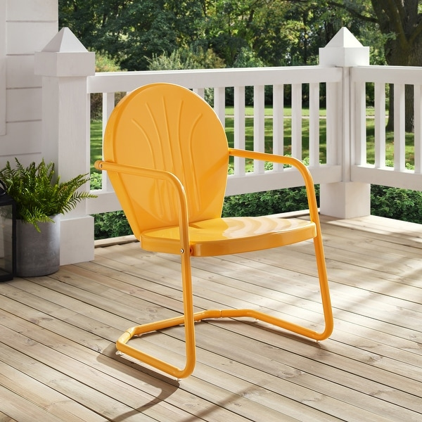 Griffith Metal Chair In Tangerine. Opens flyout.