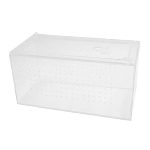 Clear Acrylic Assembled Feeding Box Reptiles Crawler House 9.8x4.7x4.9inch