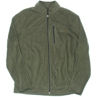 Greg Norman for Tasso Elba Mens Mock Turtleneck Zipper Pocket Fleece Jacket