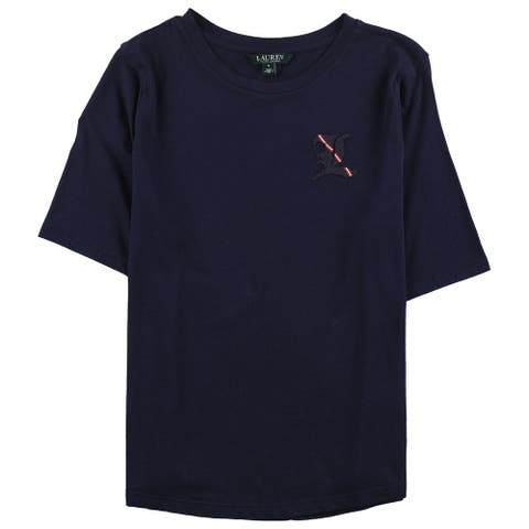 Ralph Lauren Womens L Embellished T-Shirt